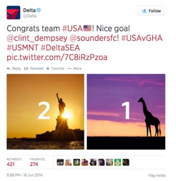 Delta Ghana tweet