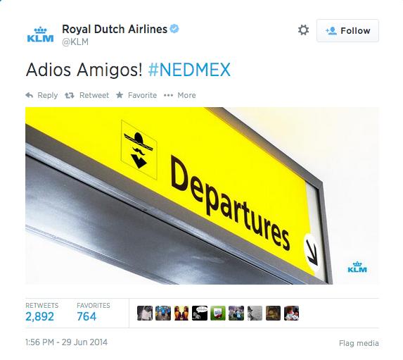 KLM World Cup Twitter Fail